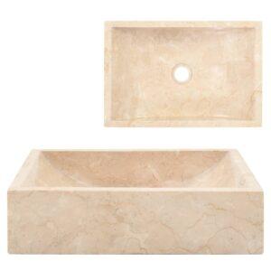 Lavatório 45x30x12 cm mármore creme - PORTES GRÁTIS