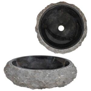 Lavatório 40x12 cm mármore preto - PORTES GRÁTIS
