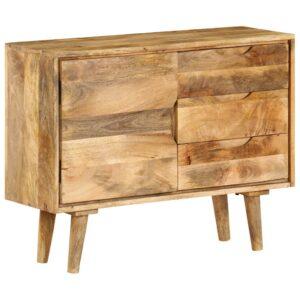 Aparador em madeira de mangueira maciça 90x40x69 cm - PORTES GRÁTIS