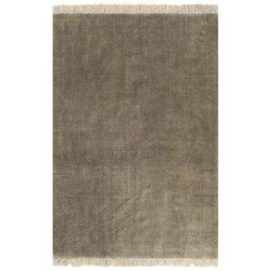 Tapete Kilim em algodão 200x290 cm cinzento-acastanhado - PORTES GRÁTIS