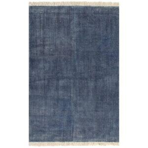 Tapete Kilim em algodão 200x290 cm azul - PORTES GRÁTIS