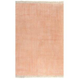 Tapete Kilim em algodão 160x230 cm rosa - PORTES GRÁTIS
