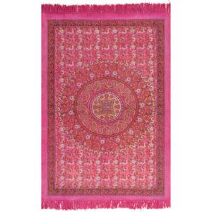 Tapete Kilim em algodão 120x180 cm com padrão fúcsia - PORTES GRÁTIS