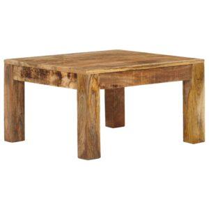 Mesa de centro em madeira de mangueira maciça 60x60x35cm  - PORTES GRÁTIS