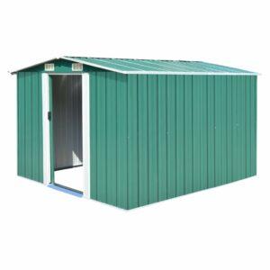 Abrigo de jardim 257x298x178 metal verde - PORTES GRÁTIS