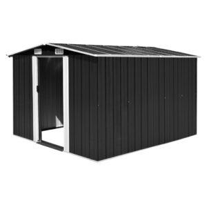 Abrigo de jardim 257x298x178 metal antracite - PORTES GRÁTIS