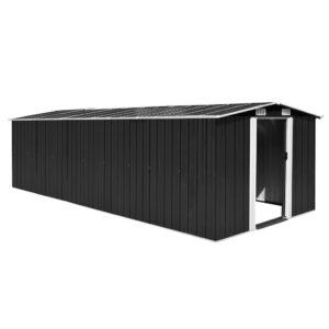 Abrigo de jardim 257x597x178 metal antracite - PORTES GRÁTIS