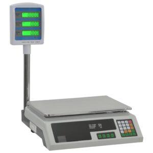 Balança eletrónica Com bateria recarregável para embalagens com LCD 30 kg - PORTES GRÁTIS