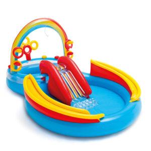 Intex Piscina insuf. Rainbow Ring Play Center 297x193 x135cm 57453NP - PORTES GRÁTIS