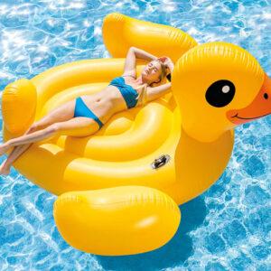 Intex Bóia de piscina Mega Yellow Duck Island 56286EU - PORTES GRÁTIS