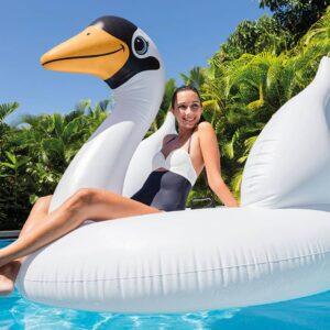 Intex Bóia de piscina Mega Swan Island 56287EU - PORTES GRÁTIS