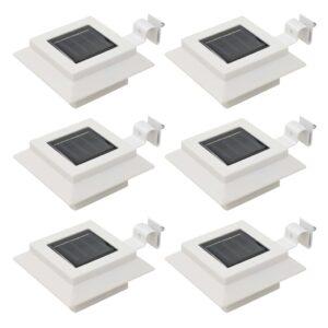 Candeeiro de exterior solar LED 6 pcs branco quadrado 12 cm - PORTES GRÁTIS