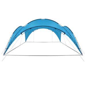 Tenda para festas arqueada 450x450x265 cm azul claro - PORTES GRÁTIS