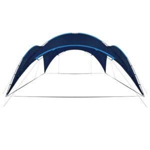 Tenda para festas arqueada 450x450x265 cm azul escuro - PORTES GRÁTIS