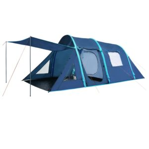 Tenda de campismo com vigas insufláveis 500x220x180 cm azul - PORTES GRÁTIS
