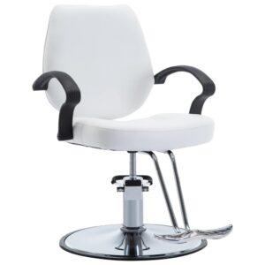 Cadeira de barbeiro couro artificial branco - PORTES GRÁTIS