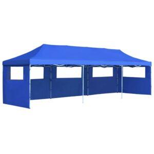 Tenda para festas pop-up dobrável c/ 5 paredes 3x9 m azul - PORTES GRÁTIS