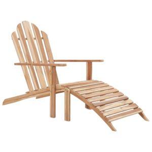 Cadeira Adirondack com apoio de pés em teca - PORTES GRÁTIS