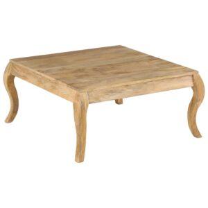 Mesa de centro 80x80x40cm madeira mangueira maciça  - PORTES GRÁTIS