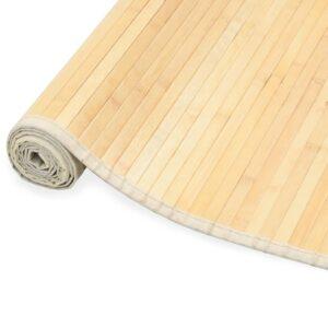 Tapete de bambu 80x300 cm natural - PORTES GRÁTIS