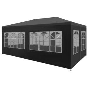 Tenda para festas 3x6 m antracite - PORTES GRÁTIS