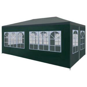 Tenda para festas 3x6 m verde - PORTES GRÁTIS