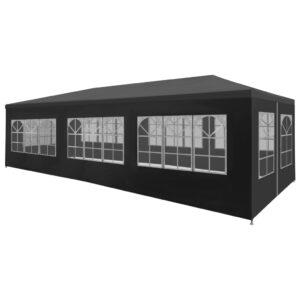 Tenda para festas 3x9 m antracite - PORTES GRÁTIS