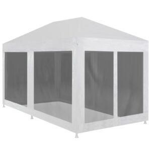 Tenda para festas com 6 paredes laterais em rede 6x3 m - PORTES GRÁTIS