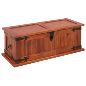 Arca de arrumação 60x25x22 cm madeira de acácia maciça - PORTES GRÁTIS
