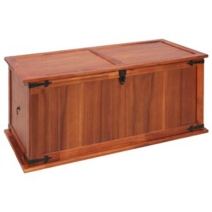 Arca de arrumação 79x34x32 cm madeira de acácia maciça - PORTES GRÁTIS
