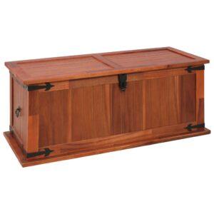 Arca de arrumação 90x45x40 cm madeira de acácia maciça - PORTES GRÁTIS