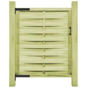 Portão de jardim pinho impregnado FSC 100x150 cm verde - PORTES GRÁTIS