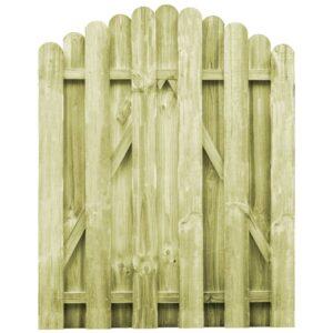Portão de jardim em pinho impregnado FSC 100x125 cm  - PORTES GRÁTIS