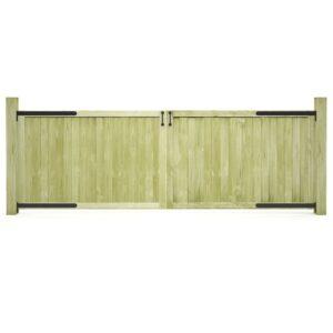 Portões de jardim 2 pcs pinho impregnado FSC 300x100 cm  - PORTES GRÁTIS