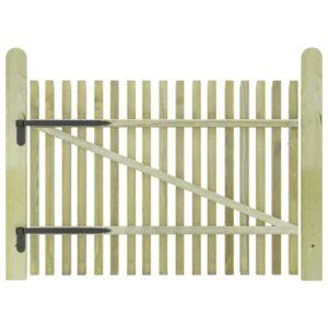 Portão de jardim em estacas pinho impregnado FSC 100x75 cm  - PORTES GRÁTIS