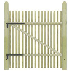 Portão de jardim em estacas pinho impregnado FSC 100x125 cm  - PORTES GRÁTIS