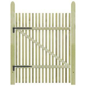 Portão de jardim em estacas pinho impregnado FSC 100x150 cm  - PORTES GRÁTIS