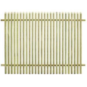 Cerca de jardim em madeira de pinho impregnado (FSC) 170x125 cm - PORTES GRÁTIS