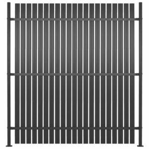 Painel de vedação com 2 postes alumínio 180x180 cm antracite - PORTES GRÁTIS