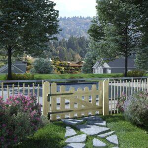 Portão de jardim pinho impregnado FSC 100x60 cm  - PORTES GRÁTIS