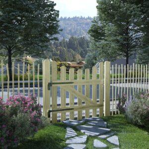 Portão de jardim pinho impregnado FSC 100x100 cm  - PORTES GRÁTIS
