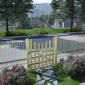 Portão de jardim pinho impregnado FSC 100x120 cm  - PORTES GRÁTIS