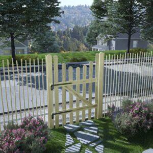 Portão de jardim pinho impregnado FSC 100x150 cm  - PORTES GRÁTIS