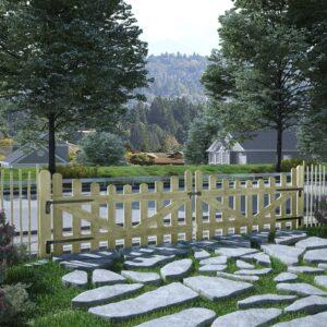 Portão de jardim 2 pcs pinho impregnado FSC 150x80 cm  - PORTES GRÁTIS
