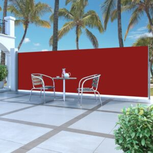 Toldo lateral retrátil 160 x 500 cm vermelho - PORTES GRÁTIS