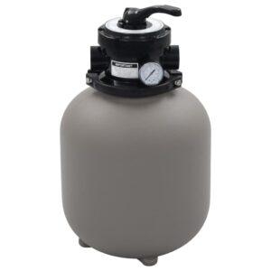 Filtro de areia p/ piscina válvula de 4 posições cinzento 350mm - PORTES GRÁTIS