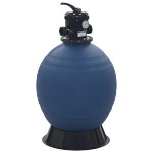 Filtro de areia p/ piscina válvula de 6 posições azul 560 mm - PORTES GRÁTIS