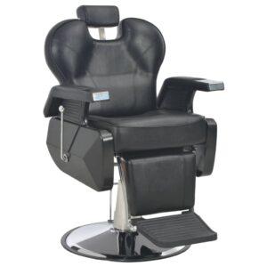 Cadeira de barbeiro 72x68x98 cm couro artificial preto - PORTES GRÁTIS
