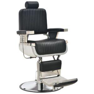 Cadeira de barbeiro 68x69x116 cm couro artificial preto - PORTES GRÁTIS