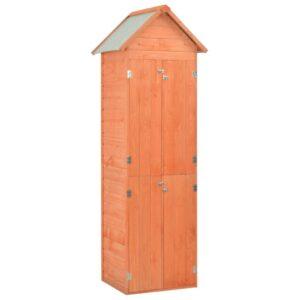 Abrigo de arrumação para jardim 71x60x213 cm madeira - PORTES GRÁTIS
